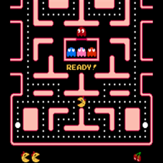 Screenshot of Ms PAC man arcade machine for hire
