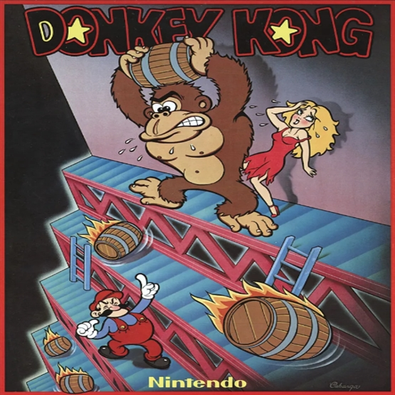 Donkey Kong original artwork