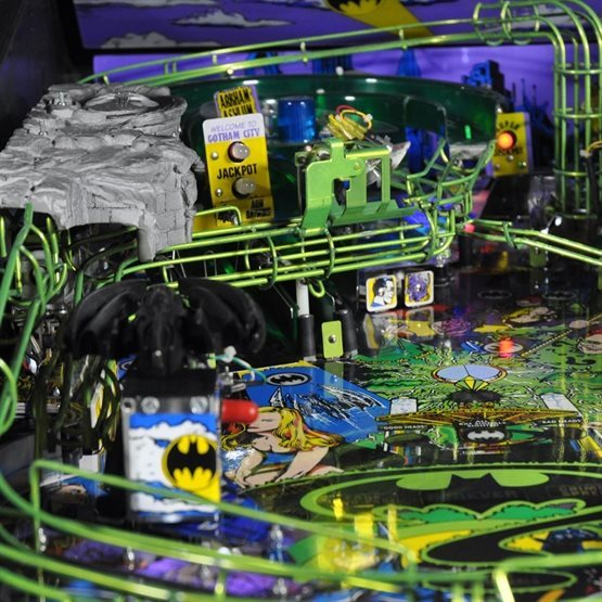 playfield of batman forever pinball for rent